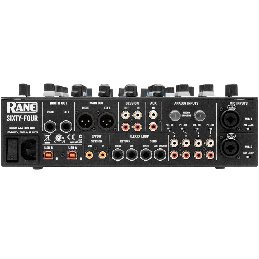 Rane Sixty-Four Rear View