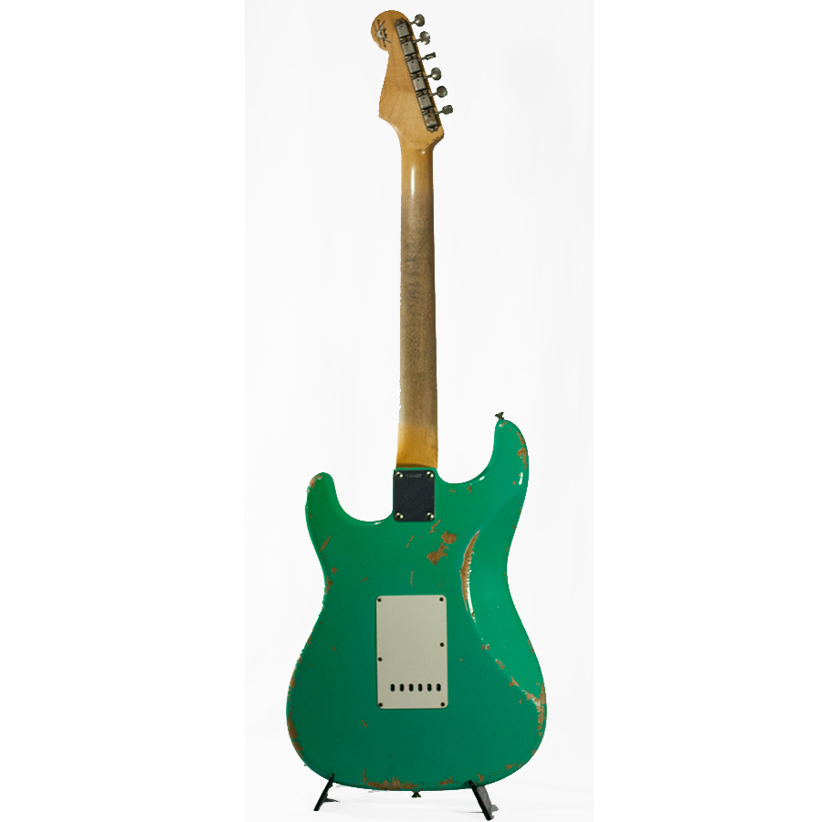 Fender 65 Heavy Relic Stratocaster Seafoam Green  Rear View