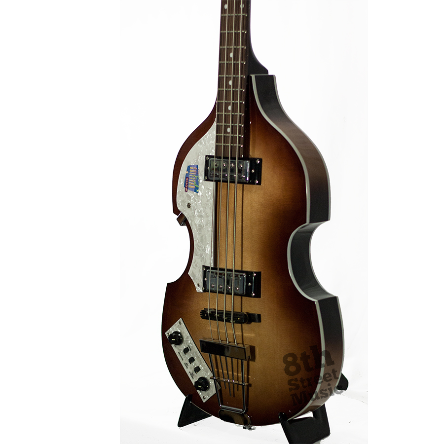 Hofner Limited Edition Ed Sullivan Show Ignition Bass Sunburst - Left Handed Body Detail