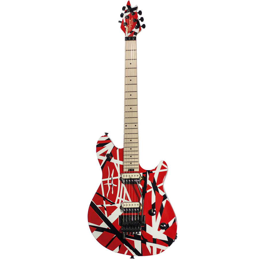 evh wolfgang special striped red black and white limited edition 6 string new ebay. Black Bedroom Furniture Sets. Home Design Ideas