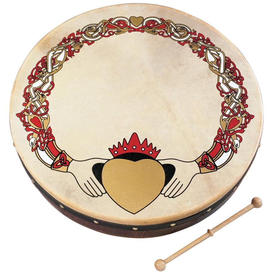 18-inch Bodhran - Claddagh