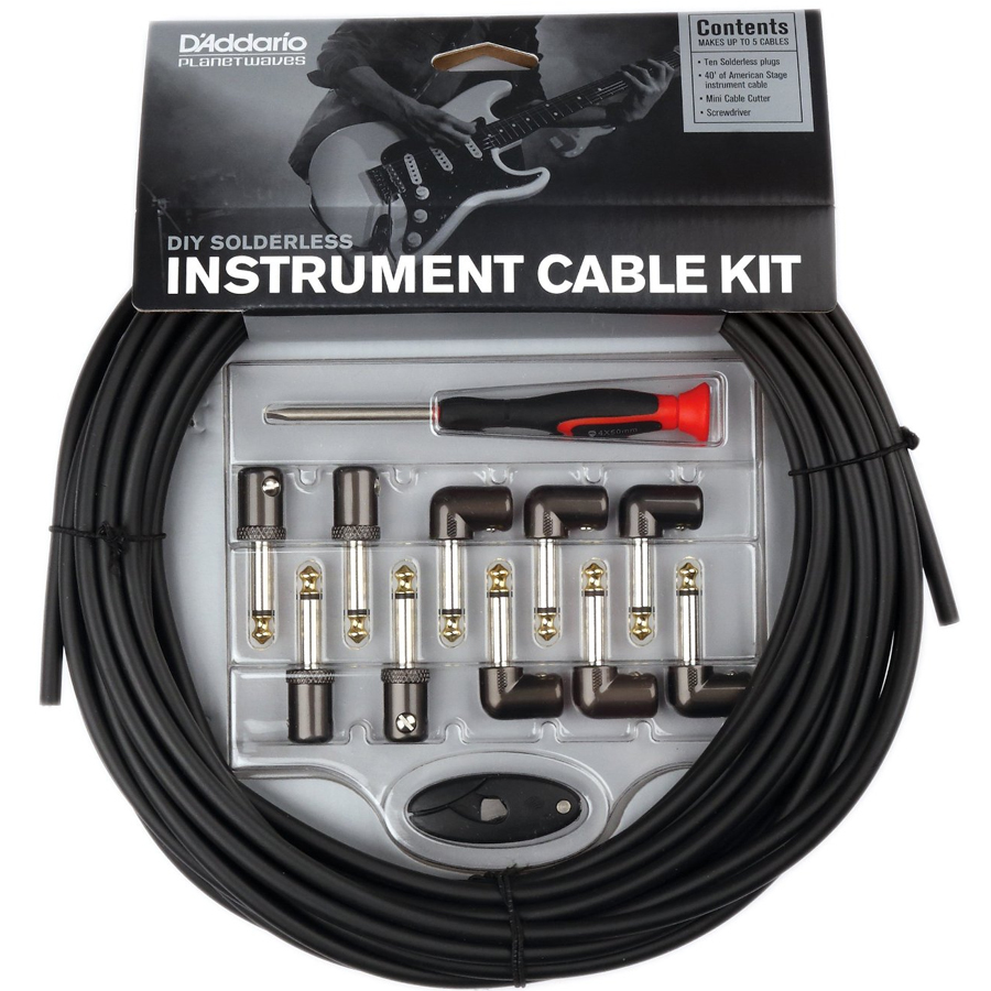 Daddario Diy Solderless Instrument Cable Kit 40 Feet Of 10 Guitar Wiring Many Daddarios Most Notable Artists Use The Kits As Their Primary Pedalboard And Rack Solution