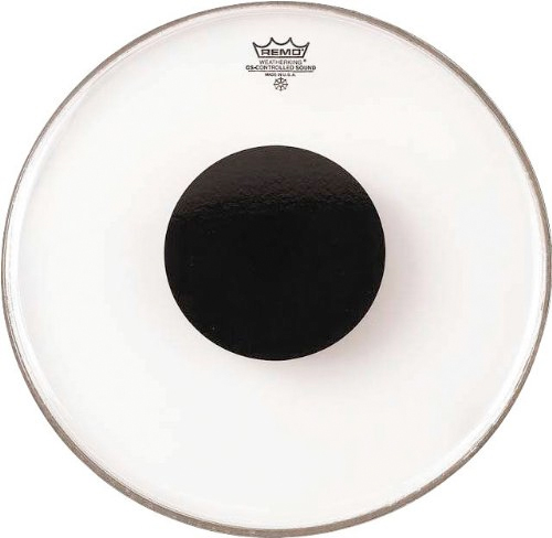 Controlled Sound Clear Black Dot Drumhead - 15 Inch