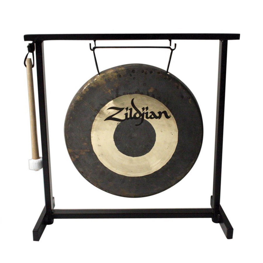Traditional Gong and Table-Top Stand Set - 12 in