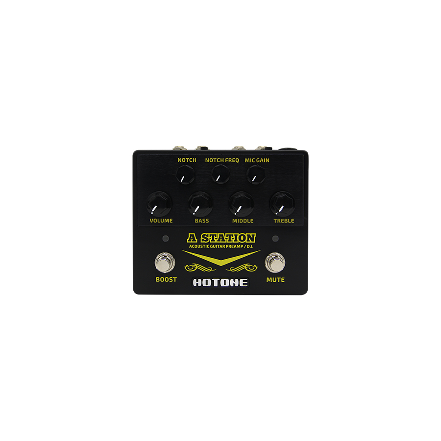 hotone a station acoustic guitar preamp pedal di new 888506060014 ebay. Black Bedroom Furniture Sets. Home Design Ideas