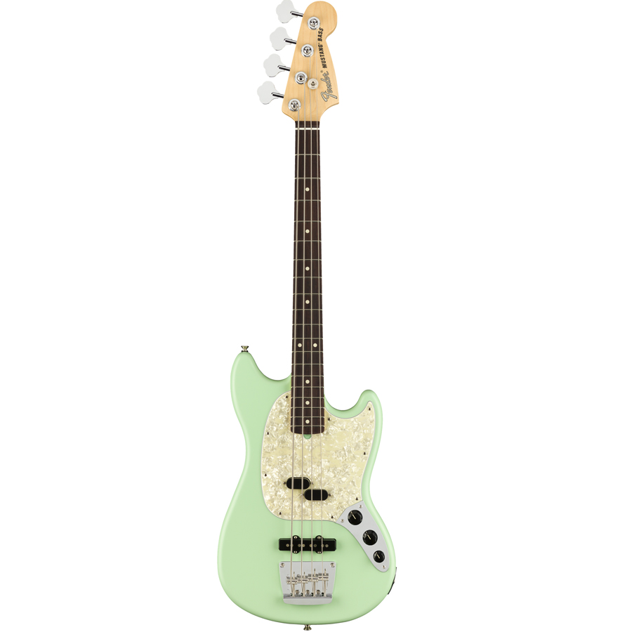 American Performer Mustang Bass Satin Surf Green
