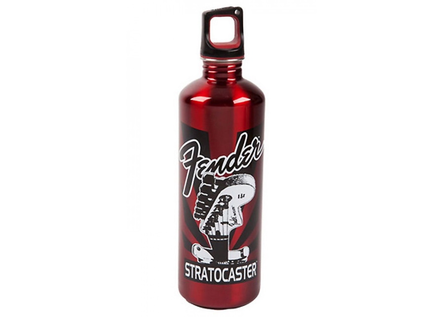 Stratocaster 24 oz Water Bottle Red