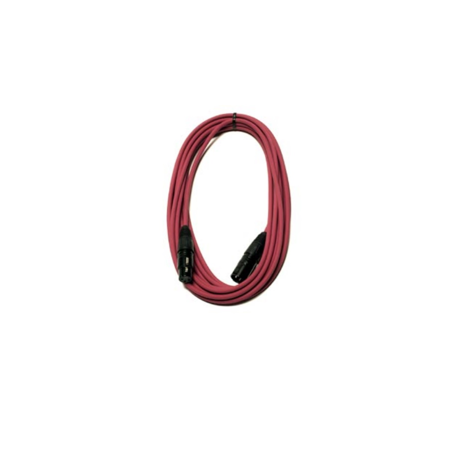 25 ft Low Z Microphone Cable Magenta