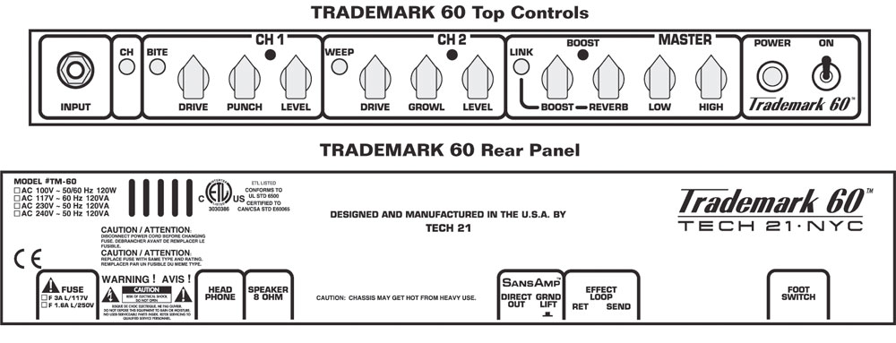 Tech21 Trademark 60 / 112  Open Box Controls