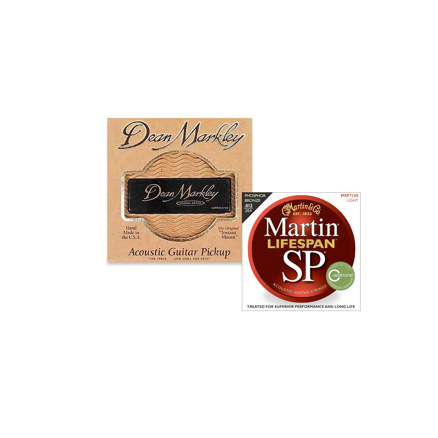 SP 7100 Phosphor Bronze Acoustic Strings & Dean Markley Acoustic Guitar Pickup