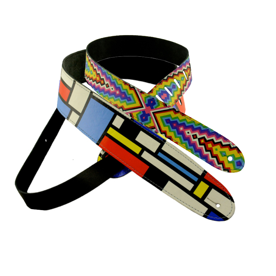 Mondrians Chevrons and Shapes Guitar Strap
